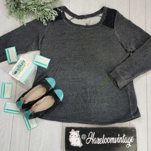 Motherhood Maternity lace accent sweatshirt